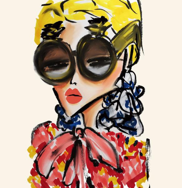 fashion illustration parisian chic