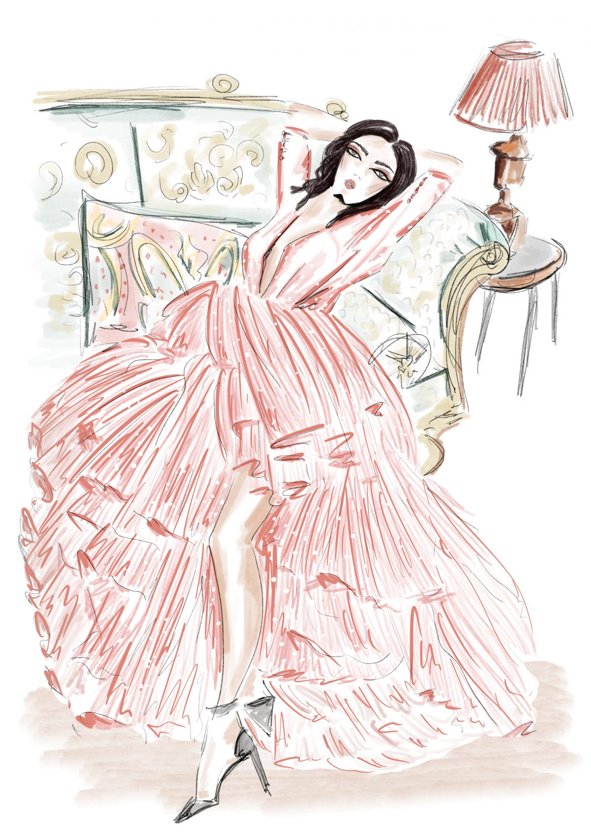 Arcadia Magazine fashion illustration
